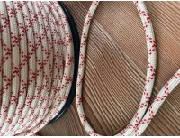 Eco Rope  8mm   weiß/rot  100m