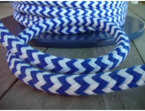 Zephyr  12mm   blau / weiß